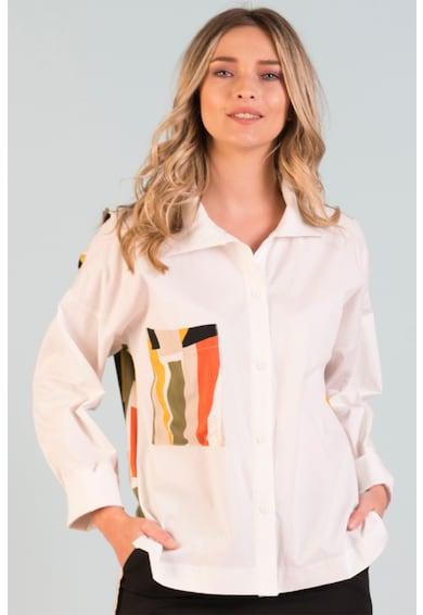 Format Lady Hosszú ujjú ing zsebbel a mellrészen női