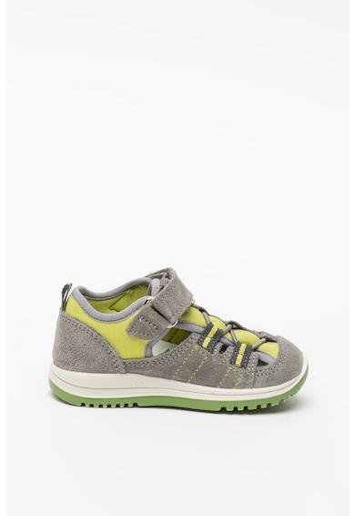 Primigi Nyersbőr és textil cipő kivágásokkal Fiú