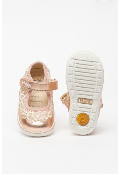 Primigi Pántos bőrcipő hálós anyagbetétekkel Lány