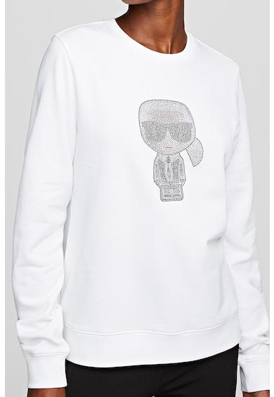 Karl Lagerfeld Bluza sport cu decolteu la baza gatului si logo Femei