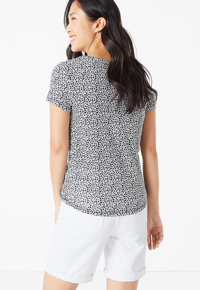Marks & Spencer Tricou cu model floral Femei
