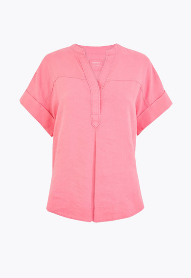 Marks & Spencer Bluza de in cu guler tip tunica Femei