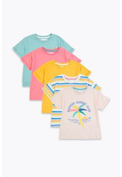 Marks & Spencer Set de tricouri cu diverse imprimeuri - 5 piese Fete