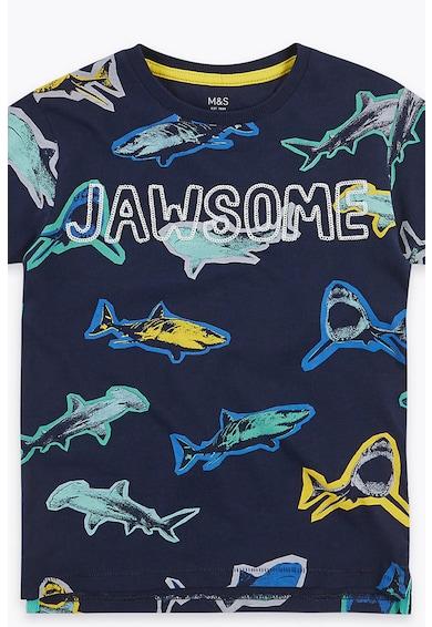 Marks & Spencer Tricou cu imprimeu rechin Baieti