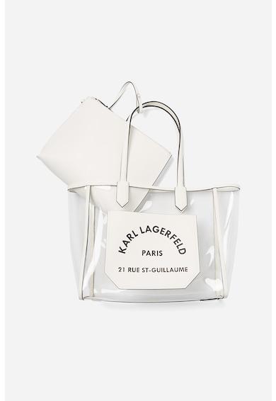 Karl Lagerfeld Geanta tote transparenta, cu logo Journey Femei
