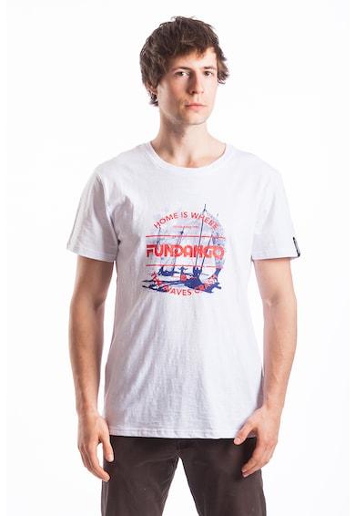 Fundango Normál fazonú mintás és logós póló férfi