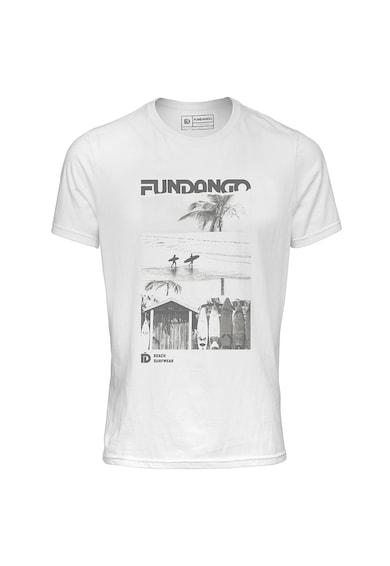 Fundango Logós és mintás normál fazonú póló férfi