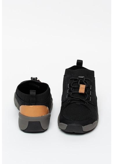 Clarks Tri-Lunar nyersbőr bebújós sneaker hálós anyagbetétekkel Lány