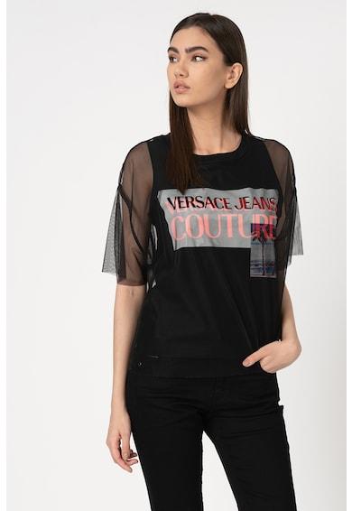 Versace Jeans Couture Póló tüll ujjakkal női