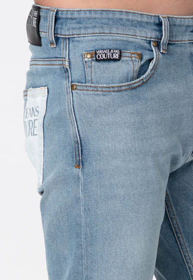 Versace Jeans Couture Straight fit farmernadrág mosott hatással férfi