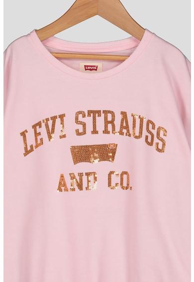 Levi's Kids Laza fazonú póló rugalmas alsó szegéllyel Lány