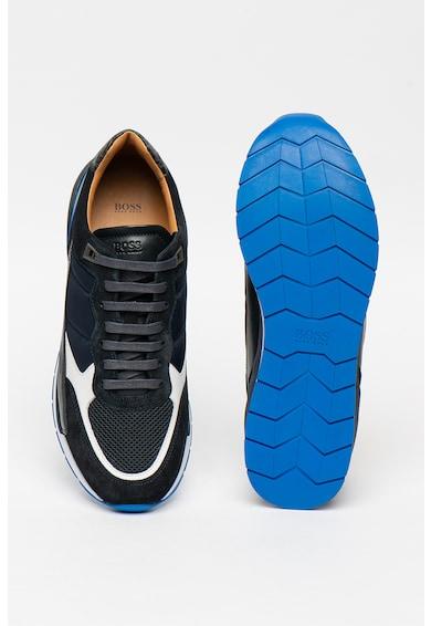 Boss Спортни обувки с кожа и велур Мъже