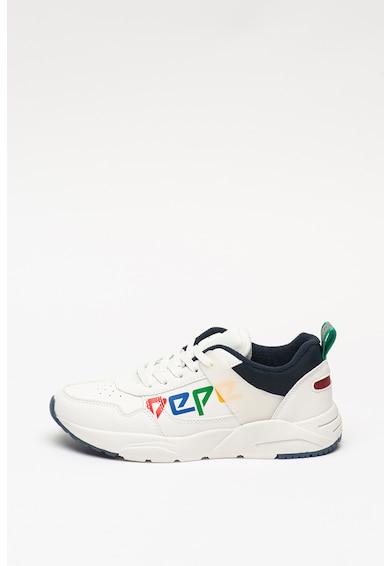 Pepe Jeans London Pantofi sport de piele ecologica si material textil David Fete