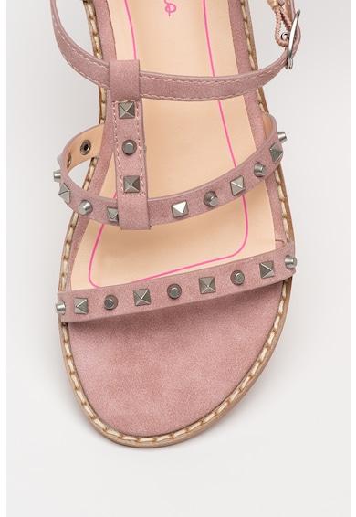 Pepe Jeans London Sandale de piele ecologica, cu tinte Elsa Fete