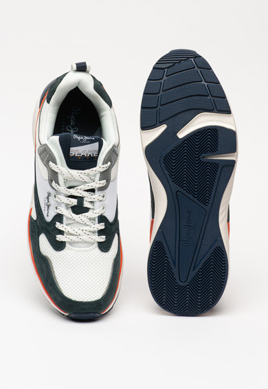 Pepe Jeans London Pantofi sport cu insertii de piele intoarsa Blake Barbati