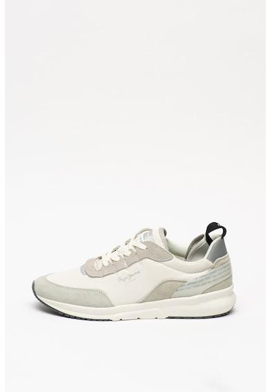 Pepe Jeans London Pantofi sport de panza si piele intoarsa N22 Barbati
