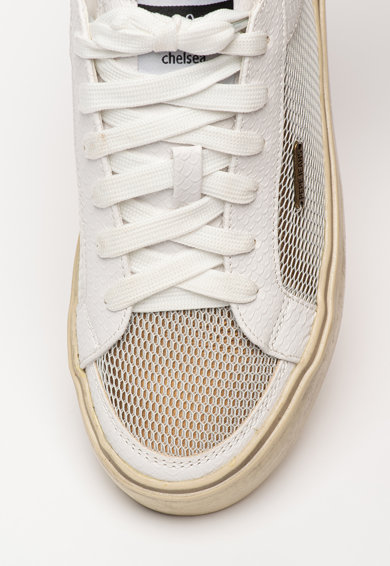 Pepe Jeans London Chelsea műbőr sneaker hálós anyagbetéttel női