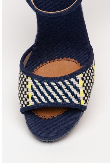 Pepe Jeans London Sandale wedge tip espadrile Shark Rafy Femei