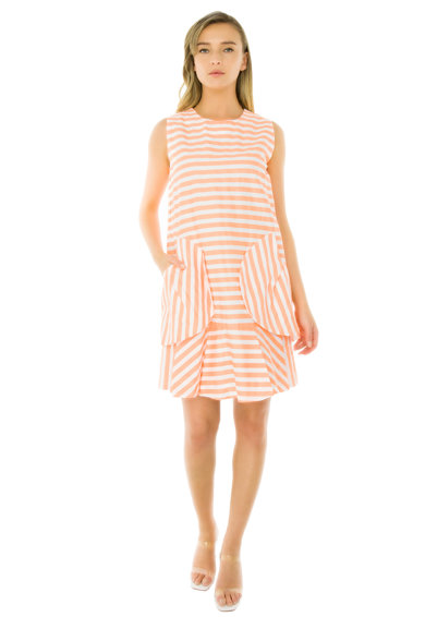 Framboise Tessa csíkos ruha női