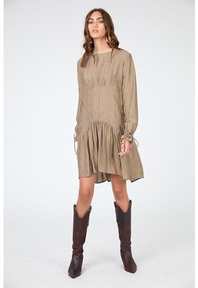 Framboise Kare texturált selyemruha női