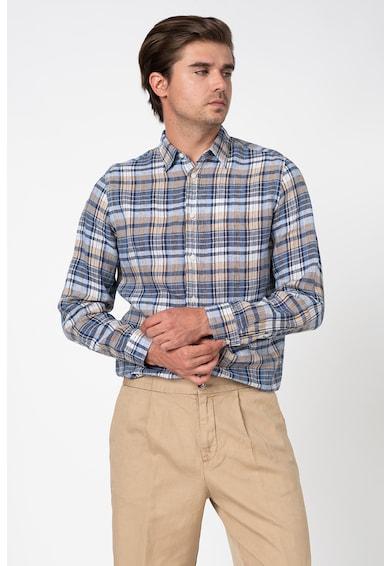 United Colors of Benetton Hosszú ujjú lenvászon ing férfi