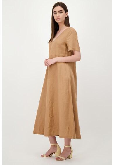 United Colors of Benetton Laza lenvászon ruha zsebekkel női