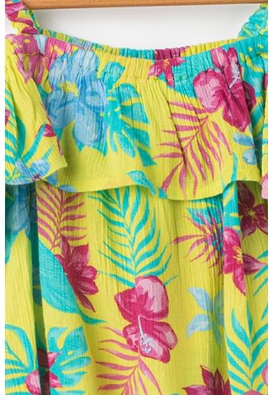 United Colors of Benetton Virágmintás kivágott vállú felső Lány