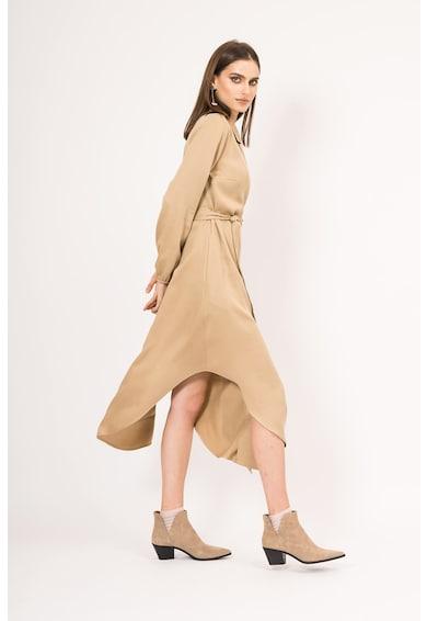 BLUZAT Átlapolt ruha aszimmetrikus alsó szegéllyel női