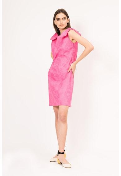 BLUZAT A-vonalú ruha masnis részletekkel női