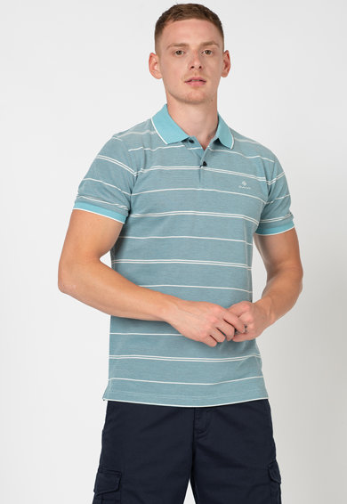 Gant Galléros póló vékony csíkokkal férfi