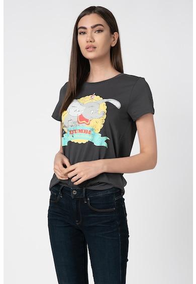 Only Tricou cu decolteu la baza gatului si imprimeu cu desene Dumbo Femei