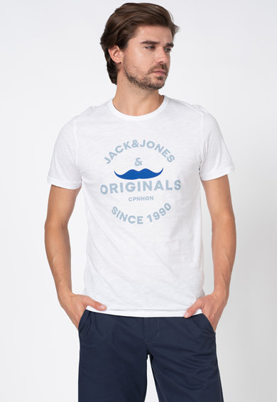 Jack&Jones Tricou slim fit de bumbac, cu imprimeu logo Barbati