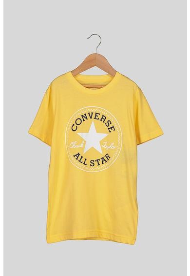 Converse Tricou cu imprimeu logo si aplicatie Core Chuck Fete