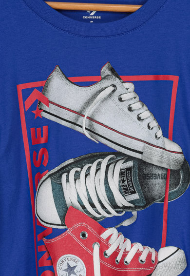 Converse Tricou cu imprimeu grafic Stacked Rectangle Fete