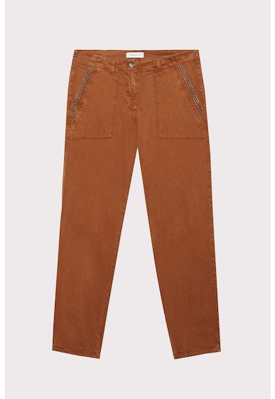 Fiorella Rubino Lyocelltartalmú straight fit nadrág szegecsekkel női