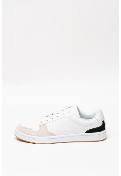 Lacoste Pantofi sport de piele cu insertii de piele intoarsa Masters Cup Barbati