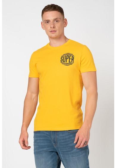 SUPERDRY Tricou de bumbac cu detaliu logo pe piept Campus Barbati