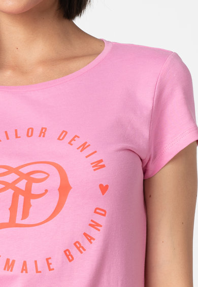 Tom Tailor Tricou lejer cu imprimeu logo Femei