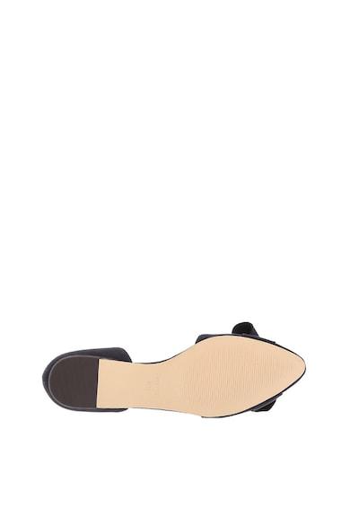 NINE WEST Shoresi hegyes orrú nyersbőr cipő masnis rátéttel női