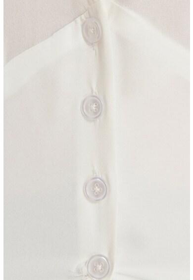 NA-KD Блуза с шпиц деколте и копчета Жени