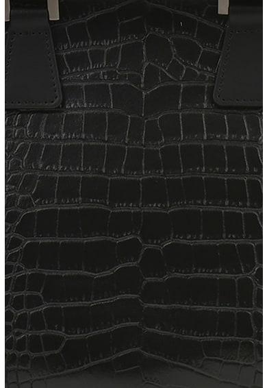 Carolina di Rosa Bőr válltáska krokodilbőr hatású részletekkel női