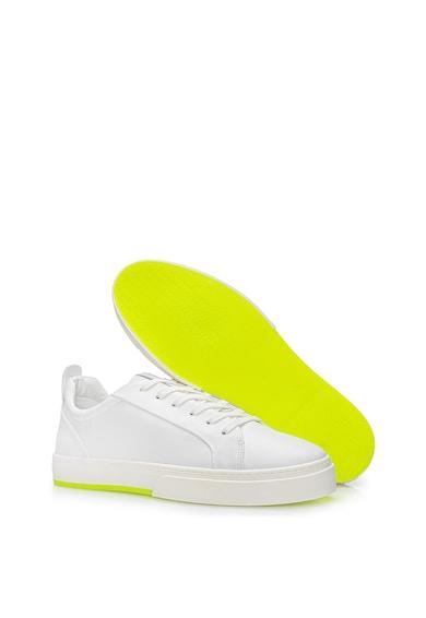 Il Passo Pantofi sport de piele cu detaliu neon Chau Barbati