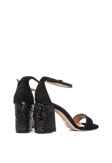 Il Passo Велурени сандали Ebony с декориран ток Жени