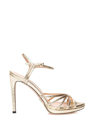 Il Passo Sandale din piele cu aspect metalizat Julia Femei