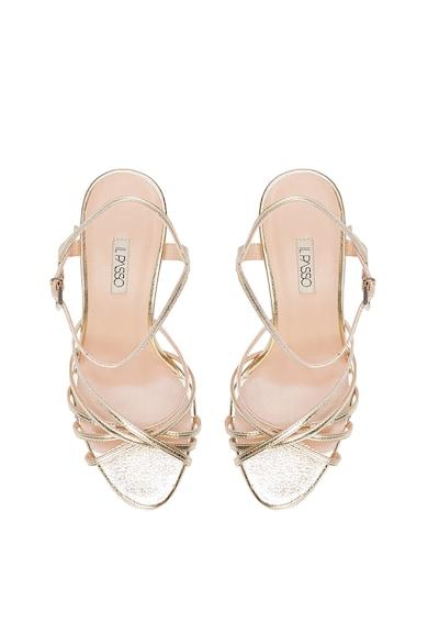 Il Passo Кожени сандали Julia с метализиран ефект Жени