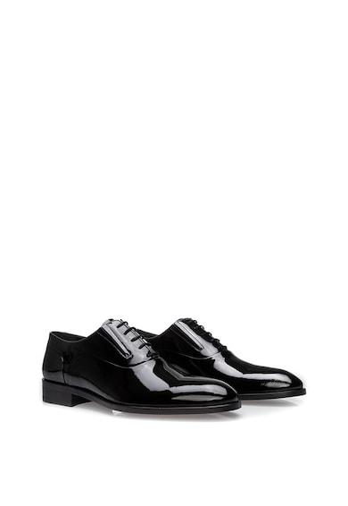 Il Passo Pantofi derby de piele lacuita Ethan Barbati