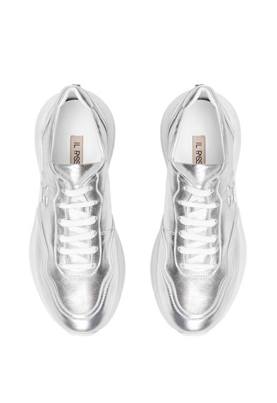 Il Passo Pantofi sport de piele cu logo in relief Kathy Femei