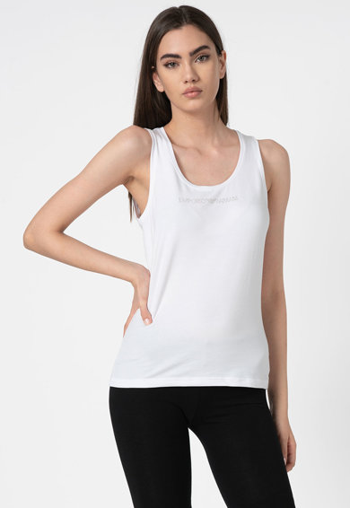 Emporio Armani Underwear Top strasszkövekkel kirakott logóval női