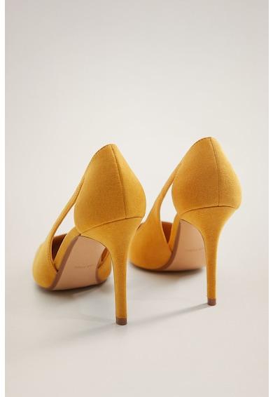Mango Pantofi cu toc stiletto, varf ascutit si decupaje Every Femei