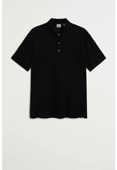 Mango Ленена тениска Amberes с яка Мъже